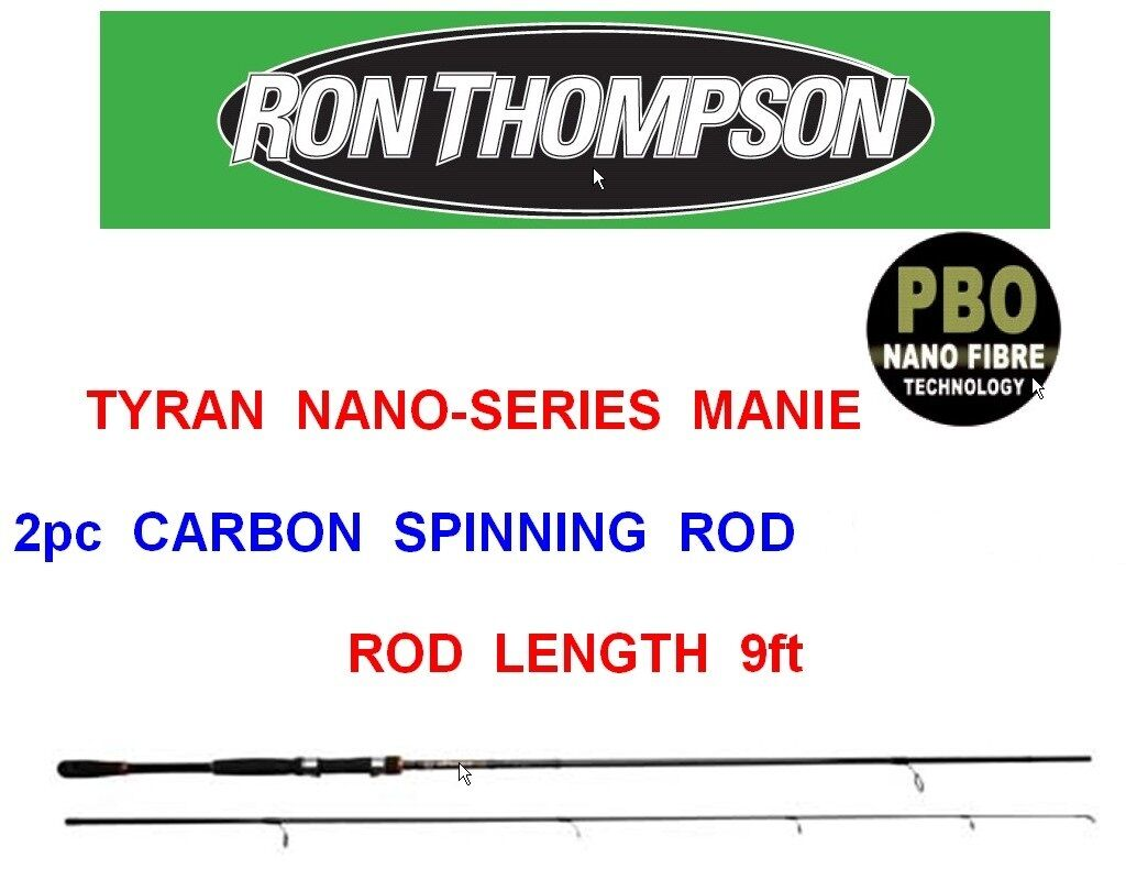 RON THOMSON 2pc TYRAN NANO MANIE CARBON ROD SERIES LURE SPINNING PIKE BASS