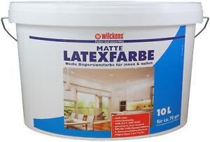 Wilckens Latexfarbe Matt Weiss Dispersionsfarbe Innen Aussen 40 X 10l