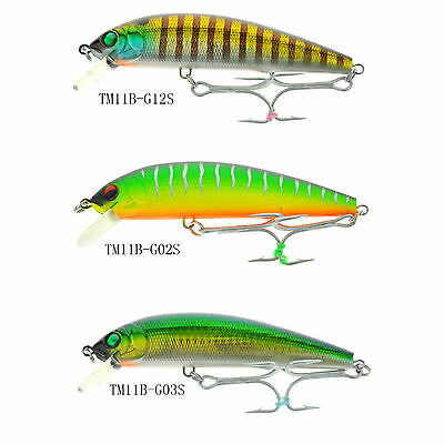 JLVLures Wired Minnow Clown JWM133TR Jerkbait Topwater Bass Lure Lures Fishing