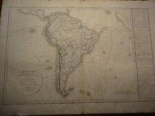 L'Amerique Meridionale - Delamarche - De Vaugondy - Atlas - 1838 - Paris