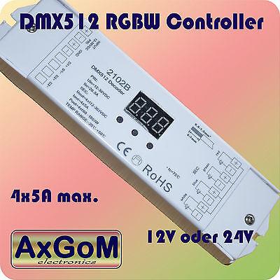 Humor Dmx 512 Decoder Rgbw Controller 12v+24v Led-strip HeißEr Verkauf 50-70% Rabatt Max 480w Bis 4 X 5a Pwm