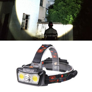 4-Mode-T6-LED-COB-Rechargeable-18650-400LM-Headlamp-Head-Light-Flashlight-Torch