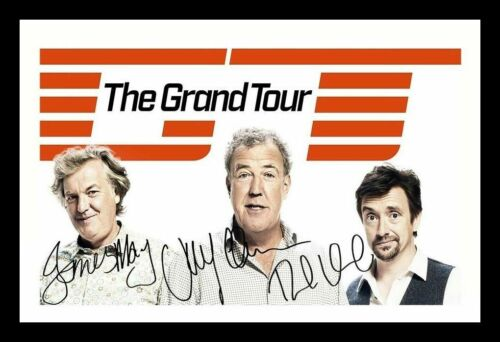JEREMY CLARKSON HAMMOND JAMES MAY SIGNED FRAMED PP POSTER PHOTO THE GRAND TOUR