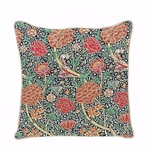 The Cray William Morris Flower Design Tapestry Cushion Filled Signare
