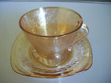 Jeannette FLORAGOLD IRIDESCENT Cup and Saucer