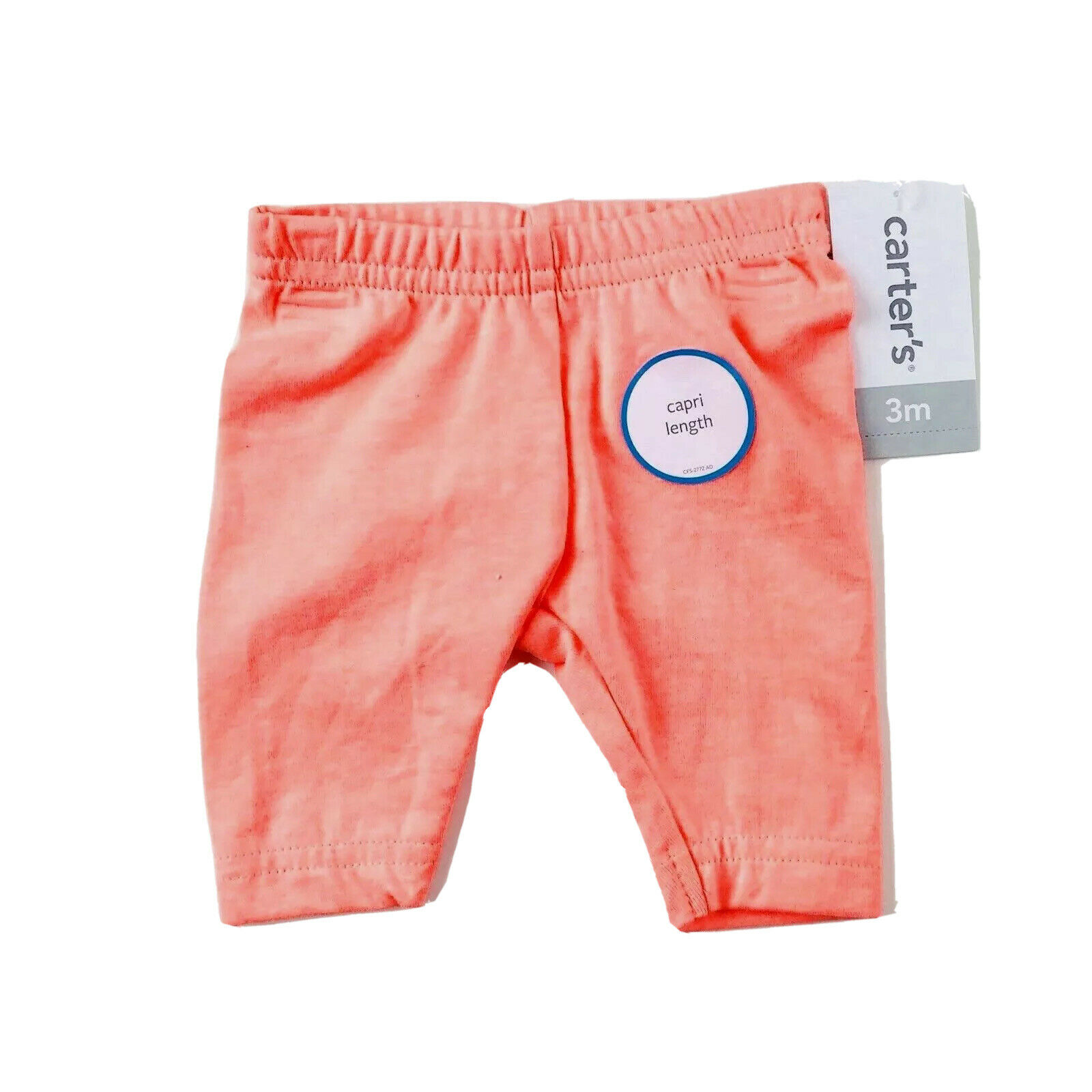 Carter S Baby Girl Orange Cotton Stretch Elastic Waist Capri Leggings Pants 3 Mo For Sale Online