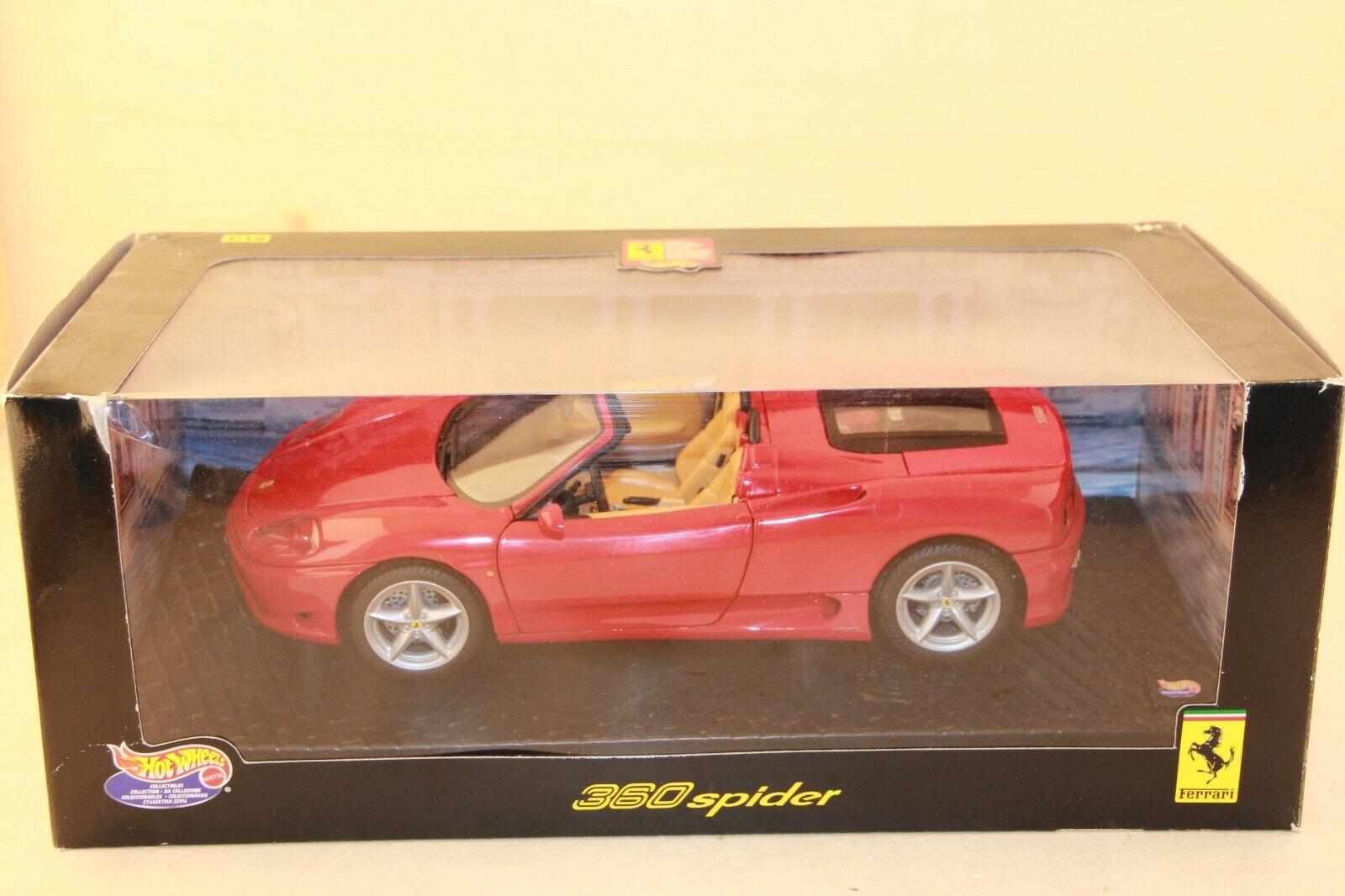 Hotwheels Ferrari 360 Spider 1 18 Box