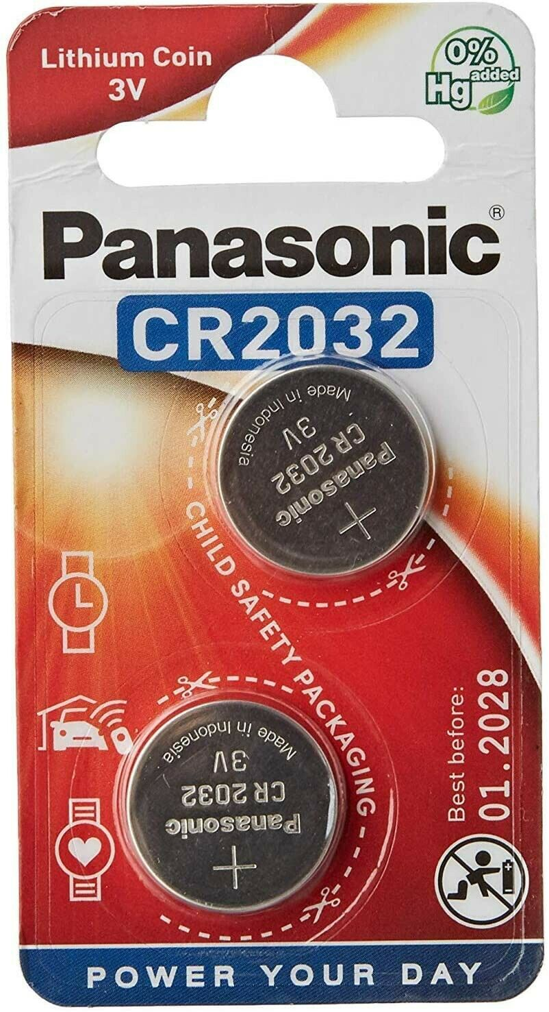 2 x PANASONIC Battery for Weight Watchers SCALE SCALES CR2032 BATTERIES