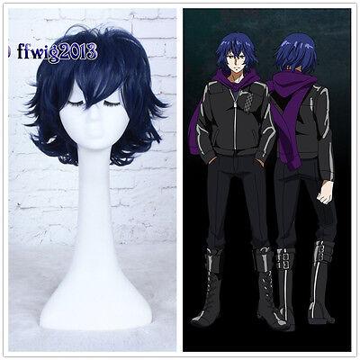 Tokyo Ghoul Kirishima Ayato Cosplay Straight blue Short Wig Hair 30cm +a wig cap