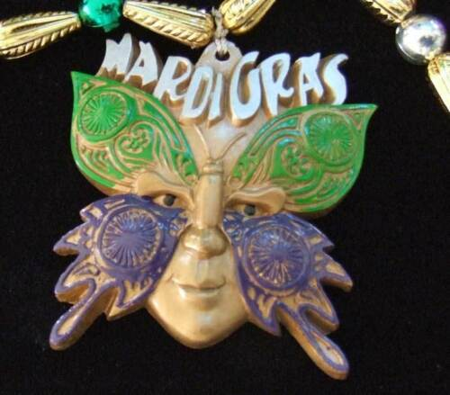 Butterfly Mask Face Mardi Gras New Orleans Party New Necklace