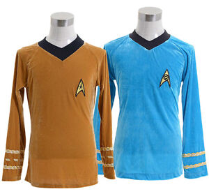 Star-Trek-TOS-The-Original-Series-Kirk-Spock-Shirt-Uniform-Halloween-Costume
