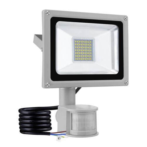 LED Fluter mit Bewegungsmelder 10//20//30//50//100W Außen Scheinwerfer Flutlicht HOT