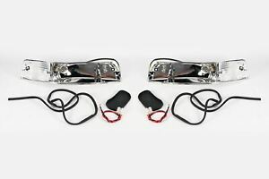 porsche 911 69 74 front indicators repeaters casing with wiring setimage is loading porsche 911 69 74 front indicators repeaters casing