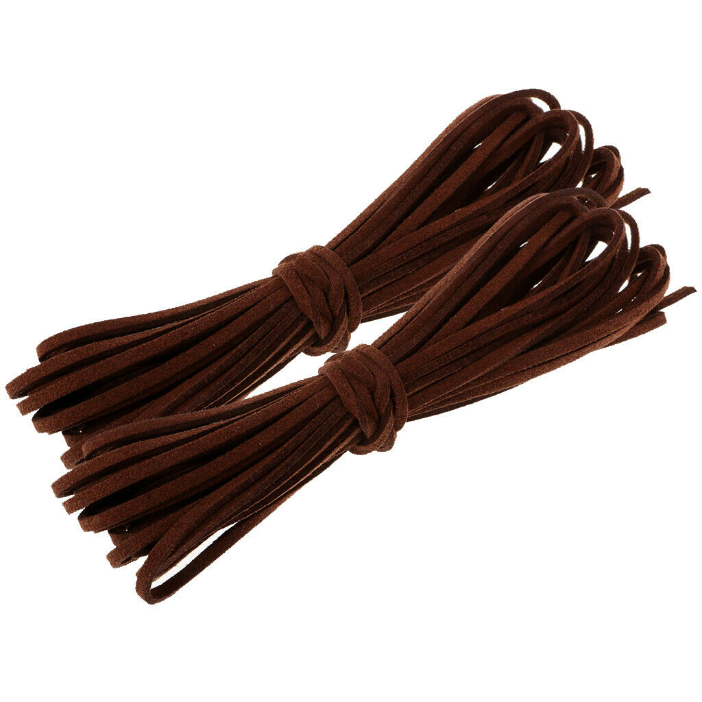 1//3//5 Meters  Brown Suede PU Leather Cord String for DIY Jewelry Making Finding