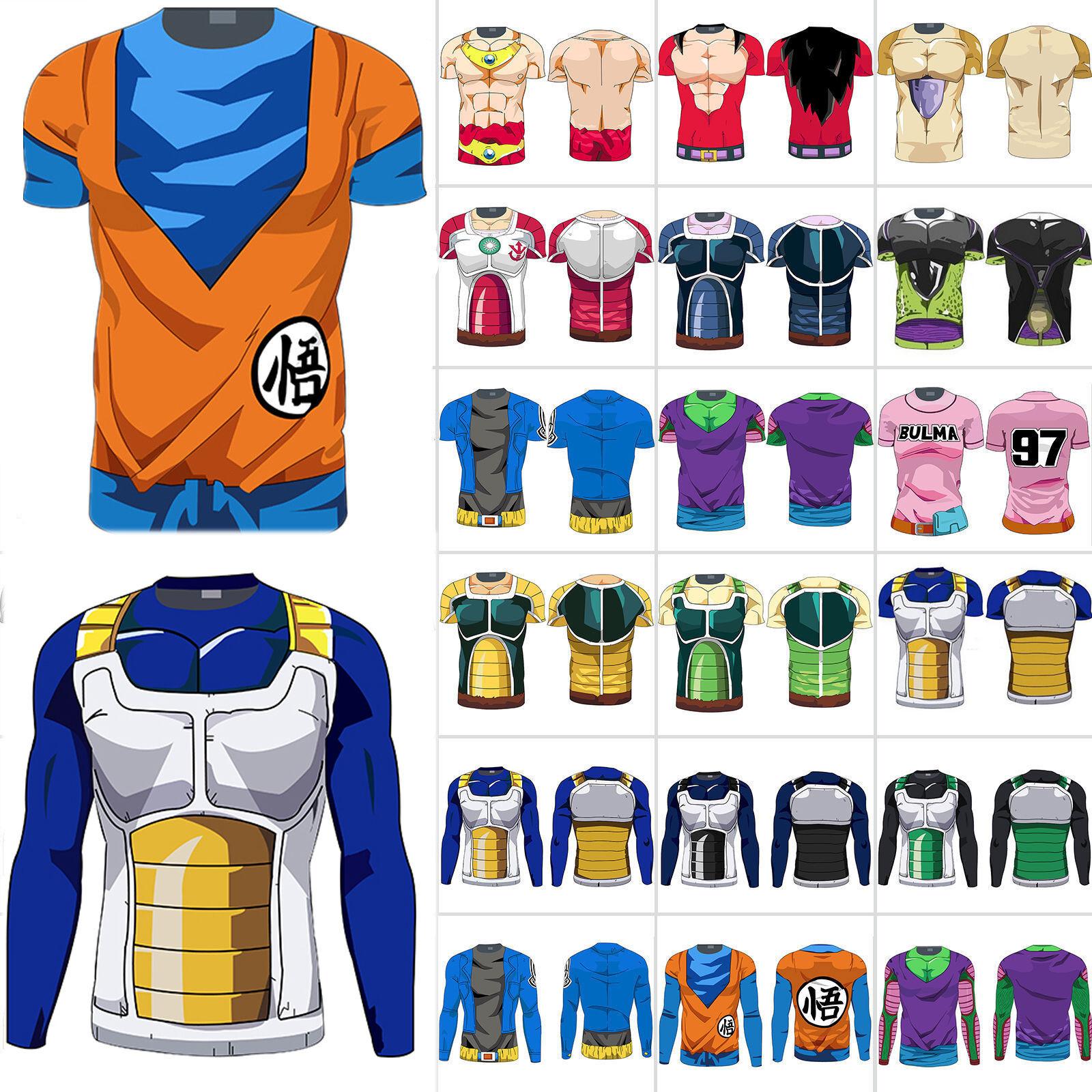 Mens Dragon Ball Z Spuer Saiya Goku DBZ Fitness Compression