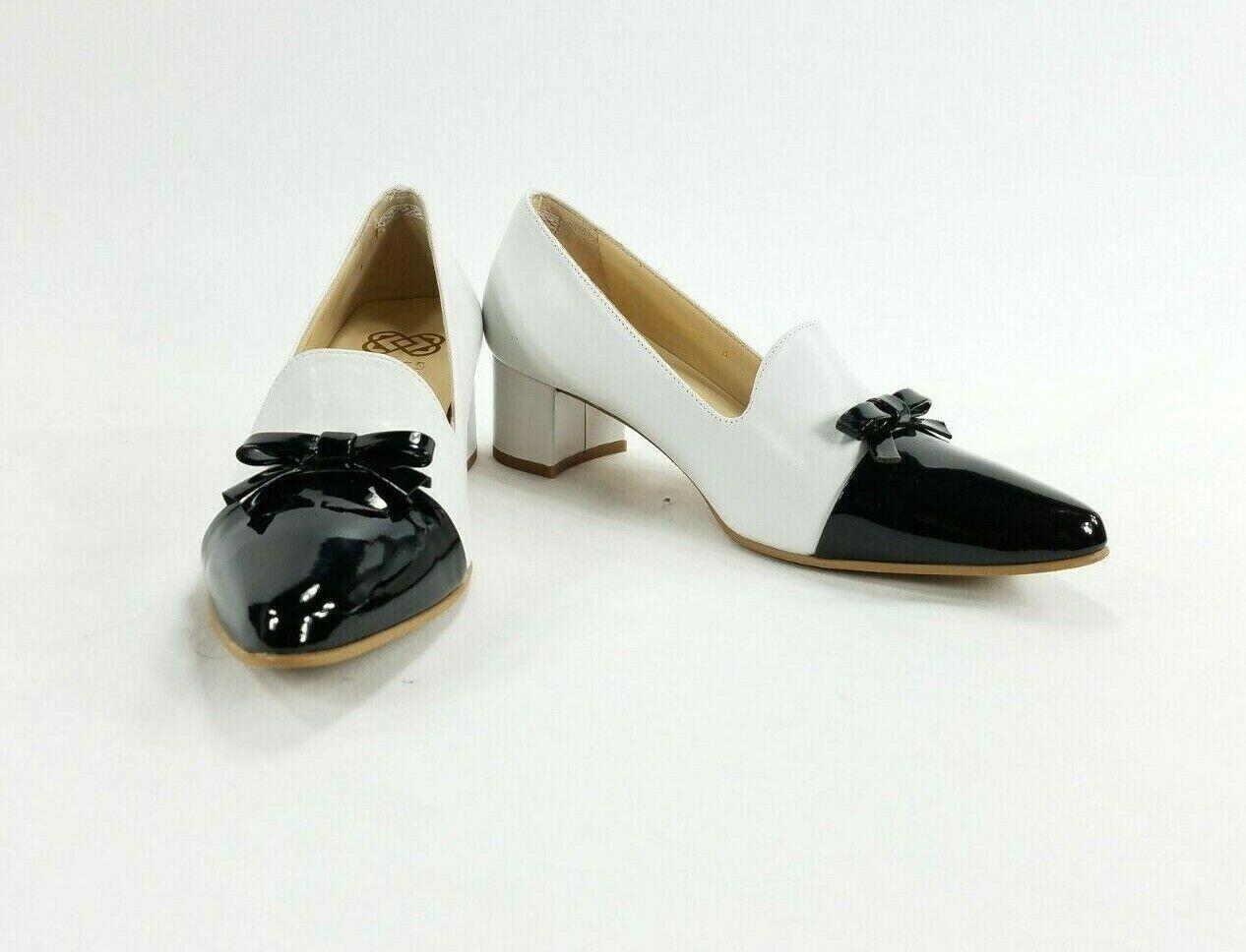 Ukies Paloma Womens Two-Toned Heels Slip On shoes Sz 6M