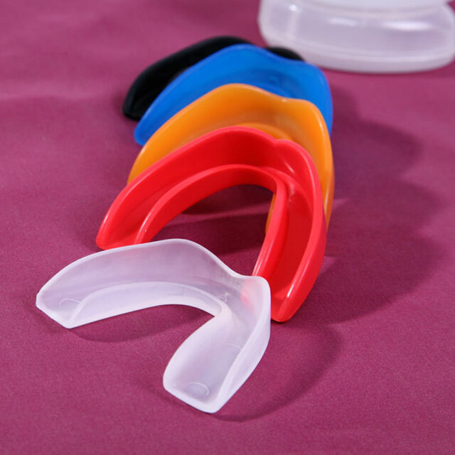 Sports Shock Teeth Mouth Boxing Dental Grindings Protectors Bruxism Guards E&TB