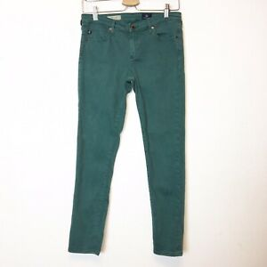 AG-Adriano-Goldschmied-Womens-Green-The-Stevie-Slim-Straight-Ankle-Jeans-Size-28
