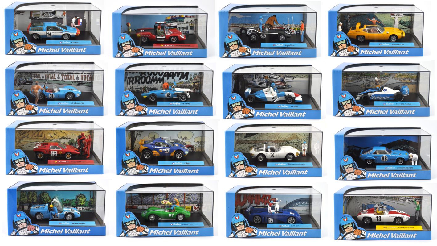 Lot de  16 voitures collection Michel Vaillant 1 43 - BD DIECAST MODEL voiture  meilleur service