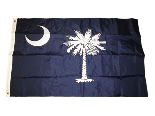 3x5 Embroidered South Carolina Double Sided 2ply 220D Nylon Flag 3/'x5/'
