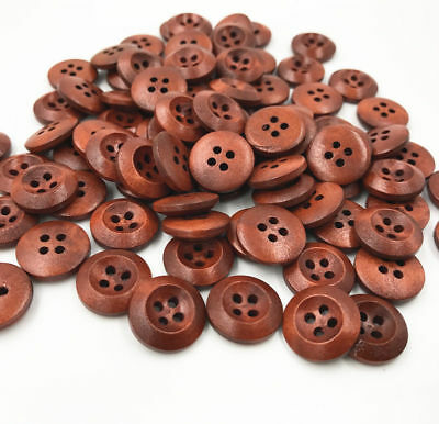 100PCS 4 Holes Wooden Buttons Sewing clothes Scrapbooking decoration 20mm