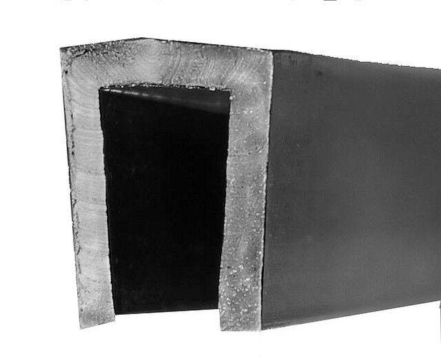Schwarz EUTRAS Kantenschutz 1945 Fassungsprofil FP3008 Kantenschutz Dichtungsgummi-Spaltma/ß 1,5-3,0 mm 3 m