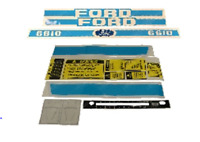 Ford 6610 Tractor Decal Set With Caution Kit