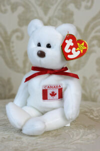 fcb86f1de82 Retired 1996 Ty Maple Canadian Bear Beanie Baby with PVC Pellets + ...