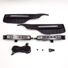 For 16-17 Honda Accord Sedan 4DR Clear LED Fog Light Set with Switch Bezel Wires