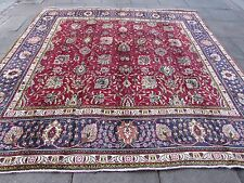 Old ShabbyChic Hand Made Traditional Persian Oriental Wool Red Carpet 296x298cm
