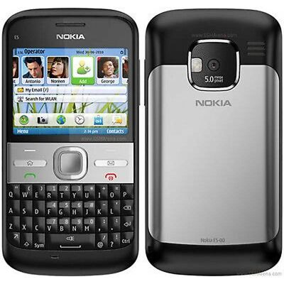 Nokia E Series E5-00 UNLOCKED 5MP 3G GPS WIFI QWERTY Cell Phone