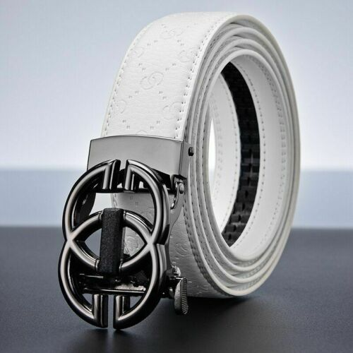 Men Women Belts Cowskin Leather Luxury Design Smooth Buckle Solid Casual Fashion