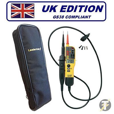 Fluke T90 Tensione /& Continuità Tester KIT2P con 1AC Voltstick e LDMC 1 CASE