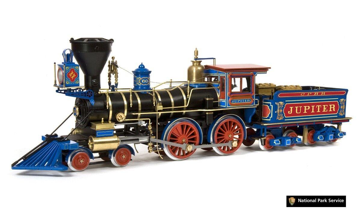 Locomotive à vapeur Jupiter du Central Pacific Railroad Occre échelle 1
