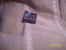 Item 3 Nate Berkus TAN BURLAP Window Panel W WHITE STRIPE 54x84 NWOP 95L