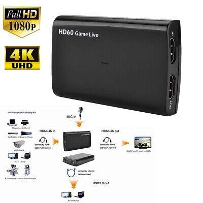 PCIE 4K HDMI Video Capture Card 1080p 60fps Live Streaming for ps3 PS4 Xbox Game