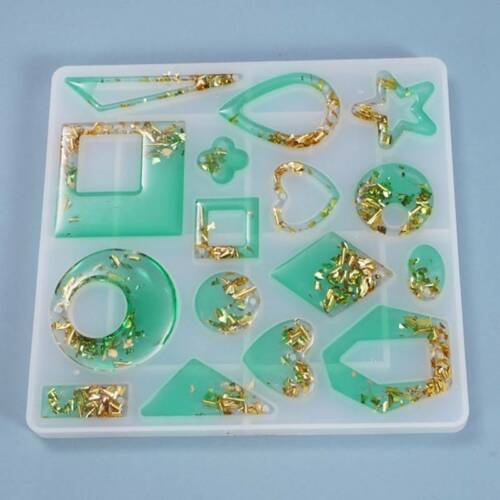 Silicone Earring Pendant Jewelry Mold Resin Casting Mould Tools DIY Epoxy Making