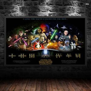 Star Wars Timeline Print Poster Wall Art Films Movie Lucasart A6 A5 A4 A3 1029 Ebay