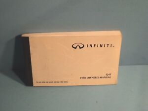 98 1998 infiniti q45 owners manual ebay rh ebay com 1998 infiniti q45 service manual 2000 Infiniti Q45