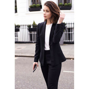 a585e03466904 Image is loading Black-Formal-Pant-Suits-for-Weddings-Womens-Business-