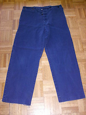 50-2 StÜck Utmost In Convenience Business & Industrie Arbeitshose Bundhose Stallhose Monteurhose Baumwolle Blau Gr