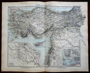 Ottoman-Empire-Anatolia-Cyprus-Iraq-Mosul-Turkey-1891-Stieler-detailed-map
