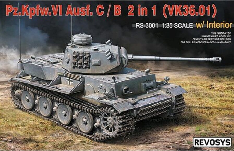 REVOSYS GERMAN PZ.KPFW.VI AUSF.C\B (VK36.01) 2 IN 1 & INTERNI 1 35 COD.RS3001