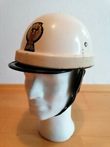 Staatspolizei Italien alter Motorrad Helm RAR Selten Vintage Polizia Helmet