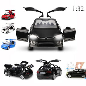 Diecast-Tesla-Model-Toy-Cars-Alloy-Pull-Back-Car-Sound-and-Light-1-32-UK-Stock