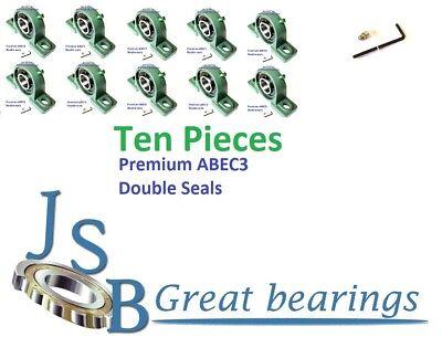Premium UCP206-20 double seals ABEC3 Pillow block bearings bore 1-1//4 Qty.4