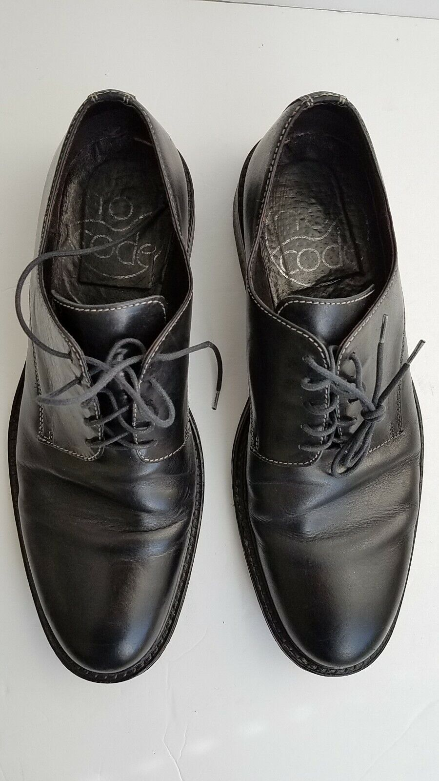 schwarz LEATHER VERO CUOIO NO CODE OXFORD herren Größe 10.5  43 EUR DRESS schuhe