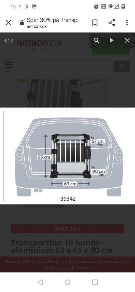 Transportbur, 63*65*90 cm
