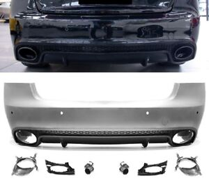 Fuer-Audi-A5-8T-Coupe-Cabrio-08-16-RS5-Look-Heckstossstange-Kuehlergrill-Diffusor