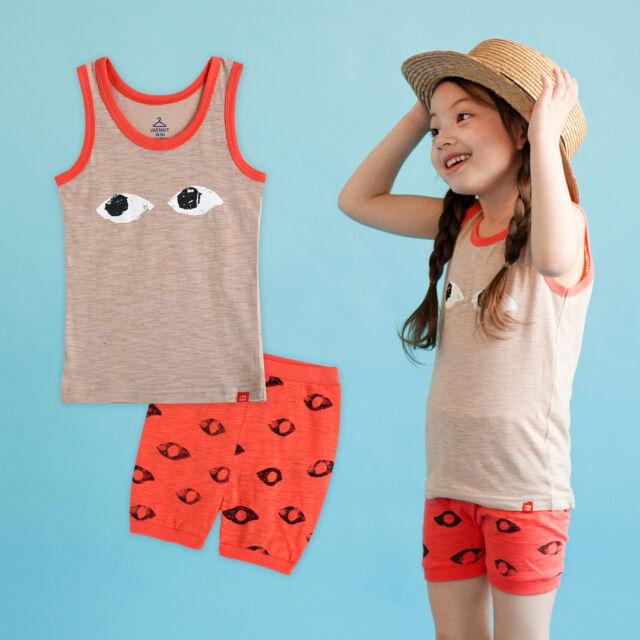 "NWT Vaenait Baby Toddler Kid Girls Short Outfit Sleepwear ""Orange eyes"" 12M-5T"